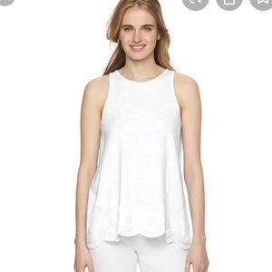 Lauren Conrad Embroidered Tank Top Large
